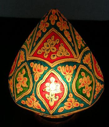 Rangila imports indian temple dome style camel skin lamp aloadofball Choice Image
